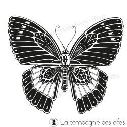 tampon encreur papillon | butterfly rubber stamp
