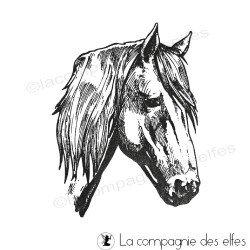 Tampon tête cheval | tampon encreur cheval | tampon camargue