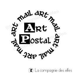 Tampon bois art postal | achat tampon art postal