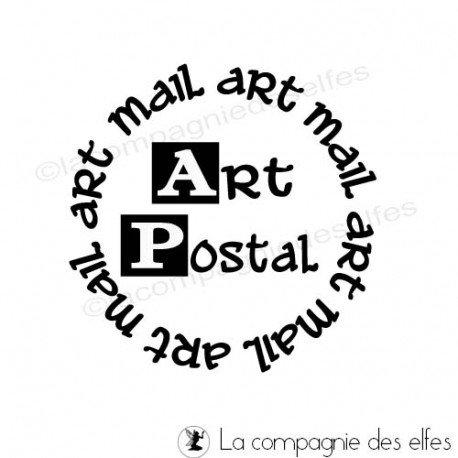 Tampon bois art postal   achat tampon art postal