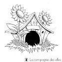 la cabane- maison- au fond du jardin - tampon nm