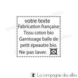 tampon sur mesure textile | tampon pour tissu personnalisé