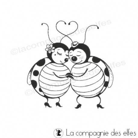 lady beetle stamp | marienkäfer stempel