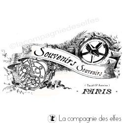 Tampon souvenirs | paris rubber stamp