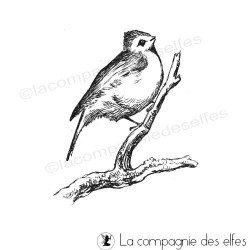 Tampon encreur oiseau   tampon oiseau vintage