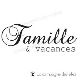tampon Famille vacances