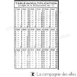 Tampon scolaire | tampon table multiplication