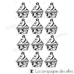 tampon encreur cuisine | tampon encreur cupcake