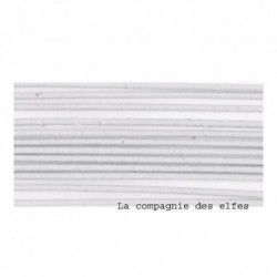 20 tiges habillées métalliques blanches - 26