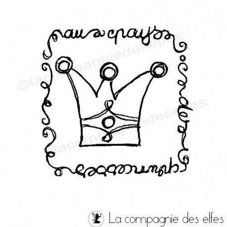 Tampon encreur couronne | tampon encreur princesse