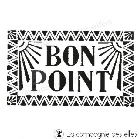 Tampon bon point | Tampon encreur bon point