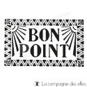 bon point tampon nm