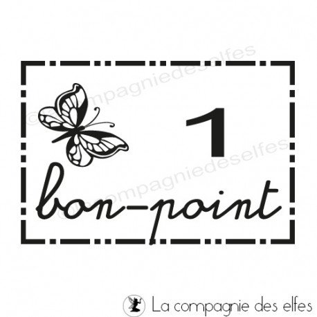 tampon encreur bon point | tampon scrap