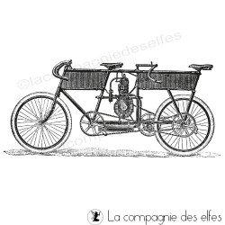 vélo tandem vintage tampon NM