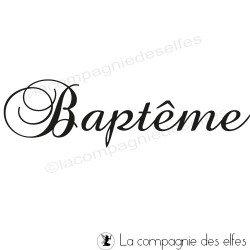 Tampon faire part de bapteme | tampon scrapbooking baptême