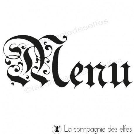 Tampon menu mariage | tampon menu calligraphie