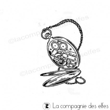 Tampon vieille montre | tampon encreur montre