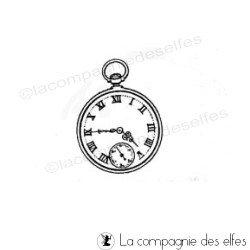 clock rubber stamp | timbre vintage | cachet vintage