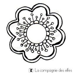 Tampon fleur scrap | tampons scrapbooking