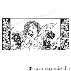 angel rubberstamp | cachet ange