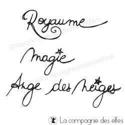 Magie - Royaume - Ange des neiges tampons nm