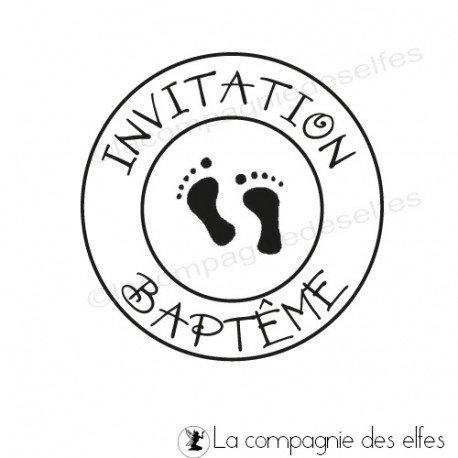 Tampon pour invitation bapteme | tampon bapteme