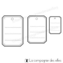 Tampon scrapbooking étiquettes