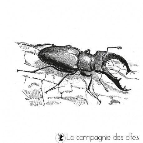 Tampon encreur lacane | tampon encreur insecte
