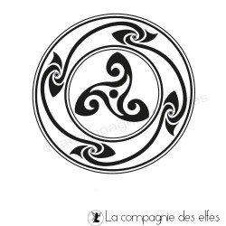 motif celte triskel tampon nm
