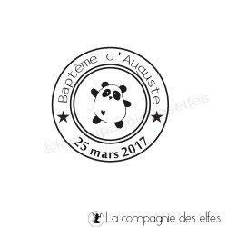 tampon encreur personnalisé | tampon personnalisé | tampon panda naissance