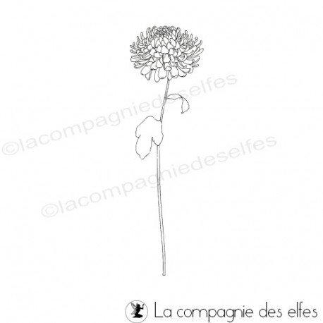 tampon fleur fine scrapbooking | fine fleur stamp