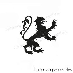 Tampon lion flandres | flandres rubber stamp
