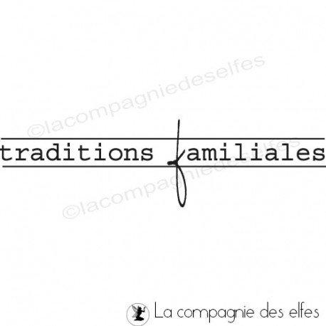 Tampon encreur tradition | family winter rubber stamp