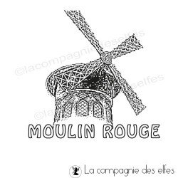 moulin rouge stamp | tampon scrapbooking Paris | tampon monument parisien