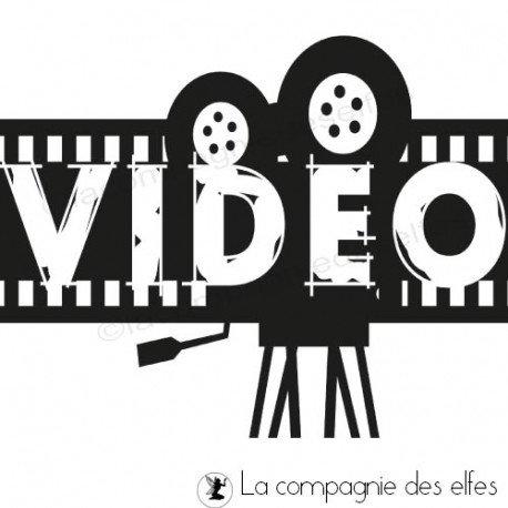 Tampon encreur video | video rubber stamp