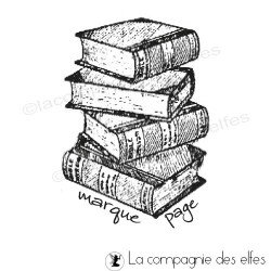 LIVRES marque page tampon nm