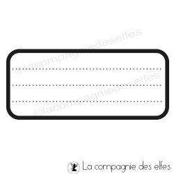 tampon scrap étiquette | stempel | label rubber stamp