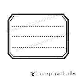 Tampon étiquette cahier