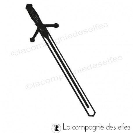 Tampon encreur médiéval | tampon épée