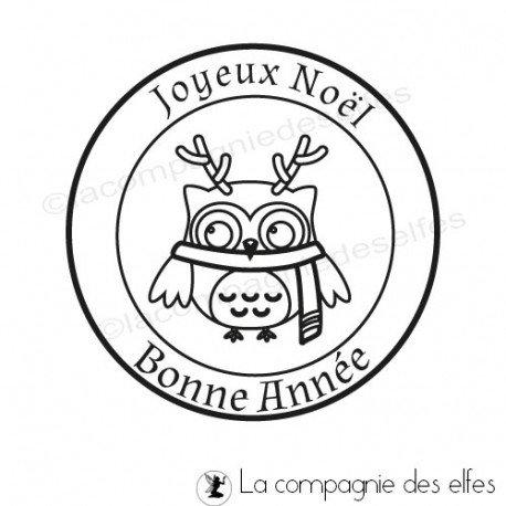 Challenge du 1er décembre sketch ATC. Tampon-chouette-joyeux-noel-bonne-annee-nm