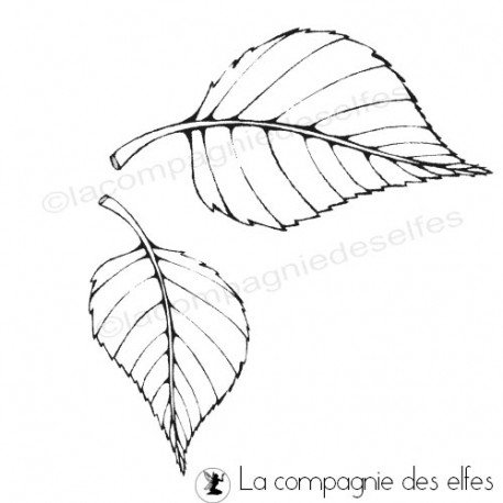 leaves stamp | leaf rubberstamp | tampon scrapbooking feuille