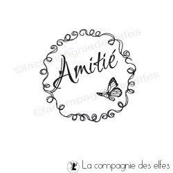 tampon label Amitié - non monté