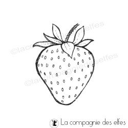 strawberry stamp | tampon encreur fraise