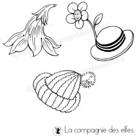 Tampon accessoire habit | tampon encreur chapeau