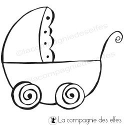tampon landau bébé | tampon scrapbooking bébé