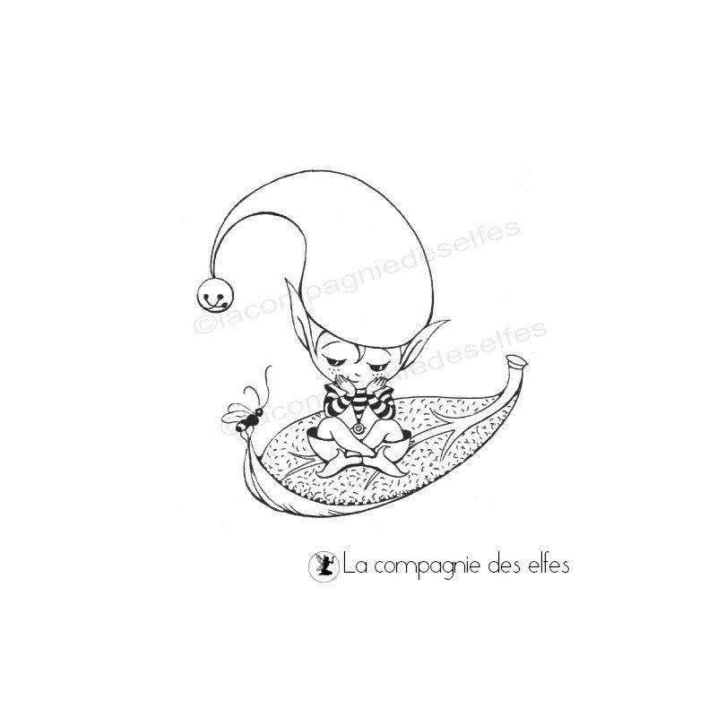 Aspect de Janvier 2020 - Page 8 Tampon-petit-elfe-sur-sa-feuille