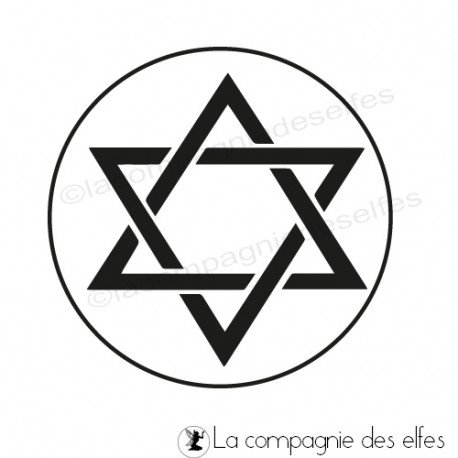 Tampon étoile israel | tampon étoile David