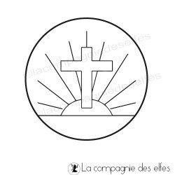Tampon encreur communiant | tampon encreur croix