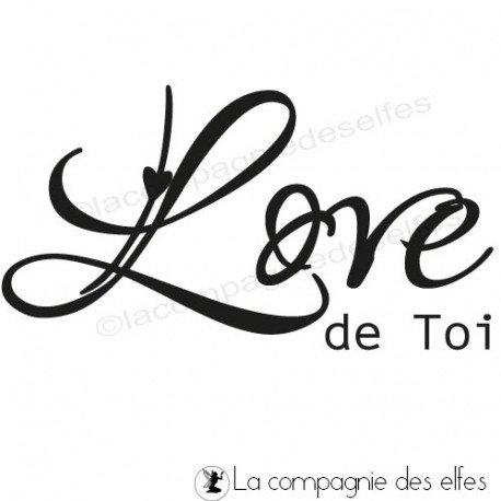 tampon encreur love | tampon scrapbooking love