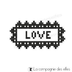 LOVE broderie tampon nm